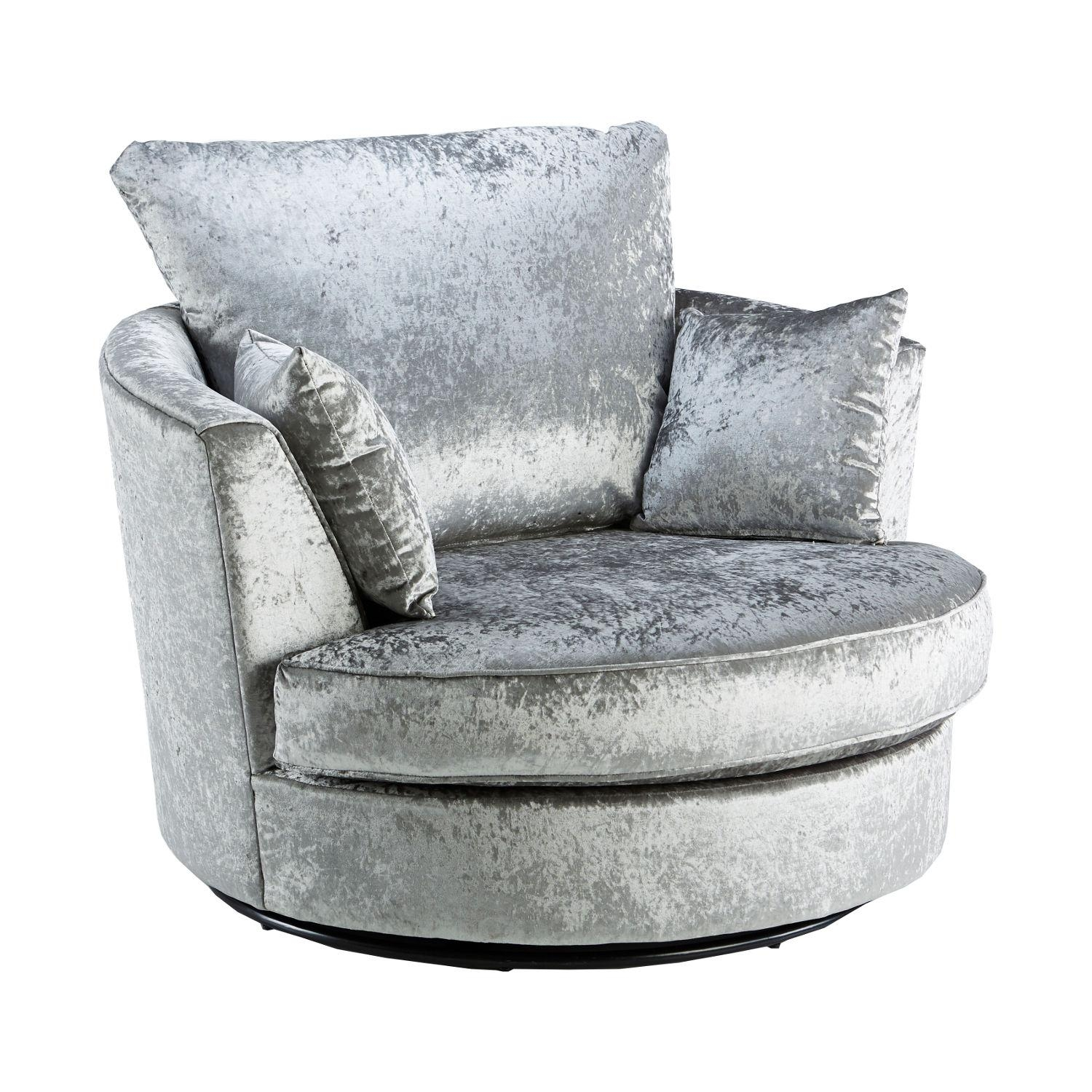 Crushed Velvet Furniture | Sofas, Beds, Chairs, Cushions Regarding Spinning Sofa Chairs (View 10 of 20)