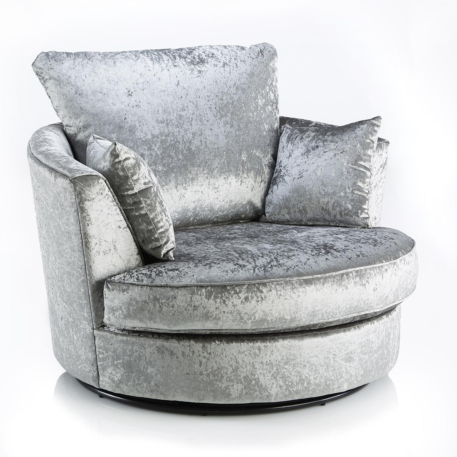 Crushed Velvet Furniture | Sofas, Beds, Chairs, Cushions With Sofa With Swivel Chair (View 19 of 20)