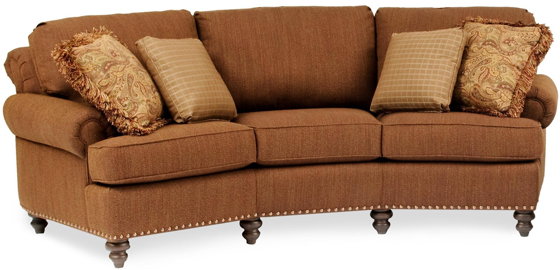 Curved Conversational Sofa With Nailhead Trimsmith Brothers Inside Smith Brothers Sofas (Image 2 of 20)