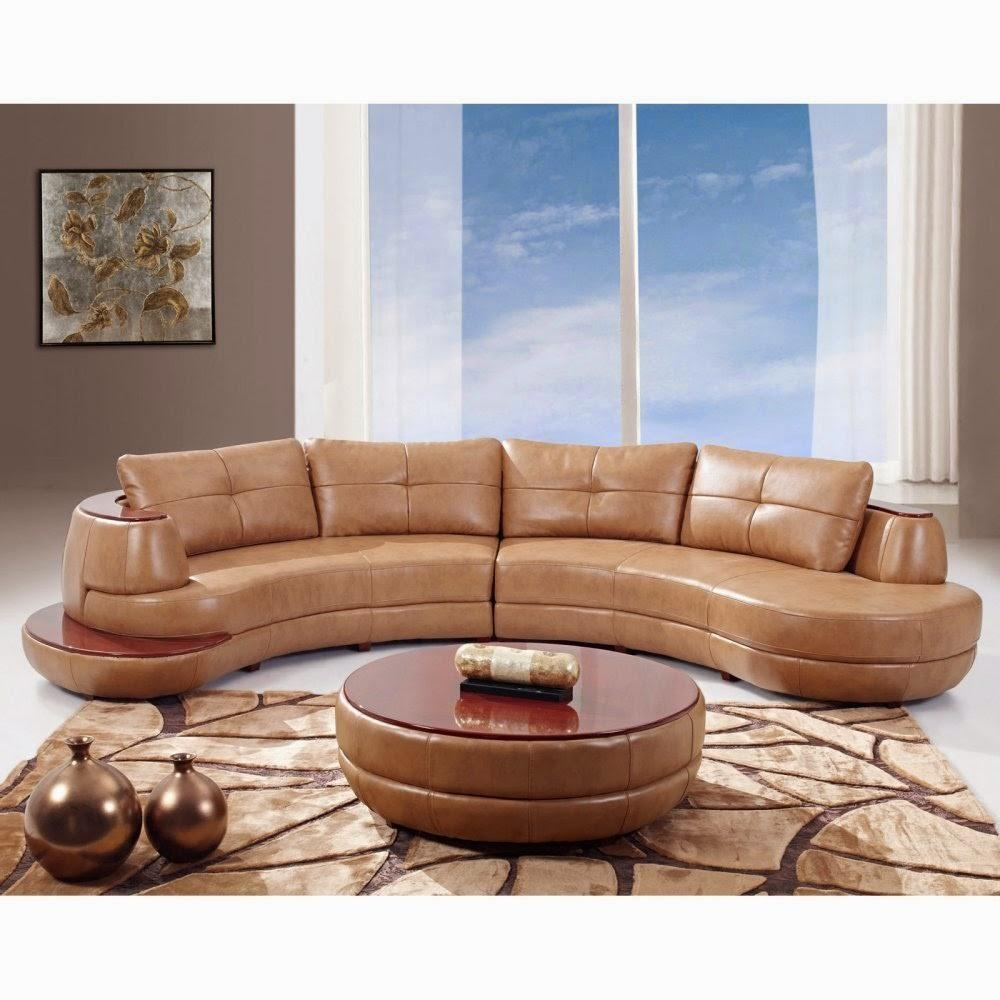 Curved Loveseat: Contemporary Curved Leather Sectional Sofa Intended For Leather Curved Sectional (Image 2 of 20)