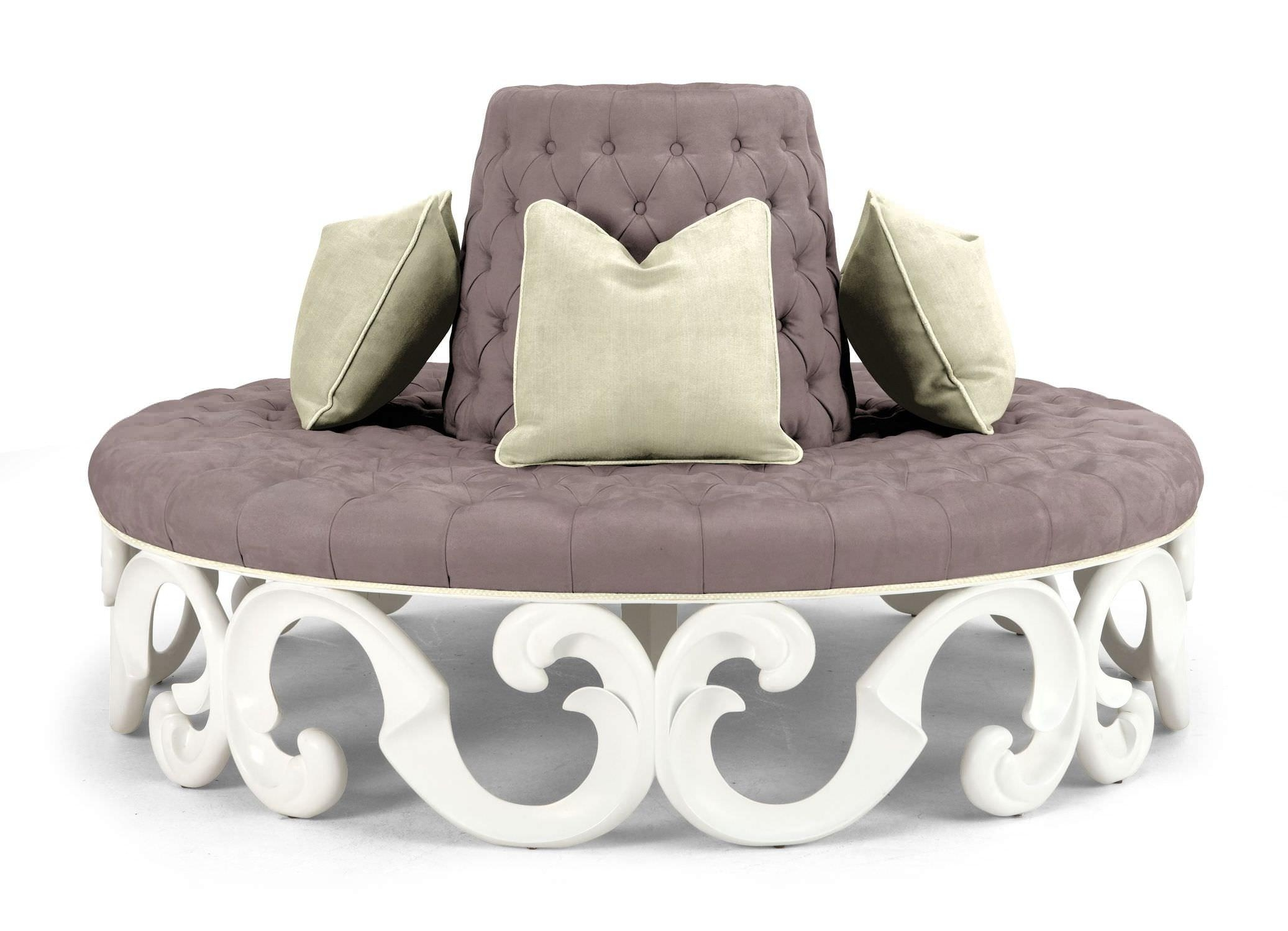 Curved Outdoor Sofa Furniture – Gallery Image Iransafebox Regarding Round Sectional Sofa (Image 3 of 20)
