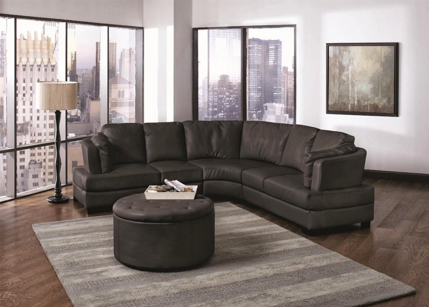 Curved Recliner Sofa – Leather Sectional Sofa With Leather Curved Sectional (Image 3 of 20)