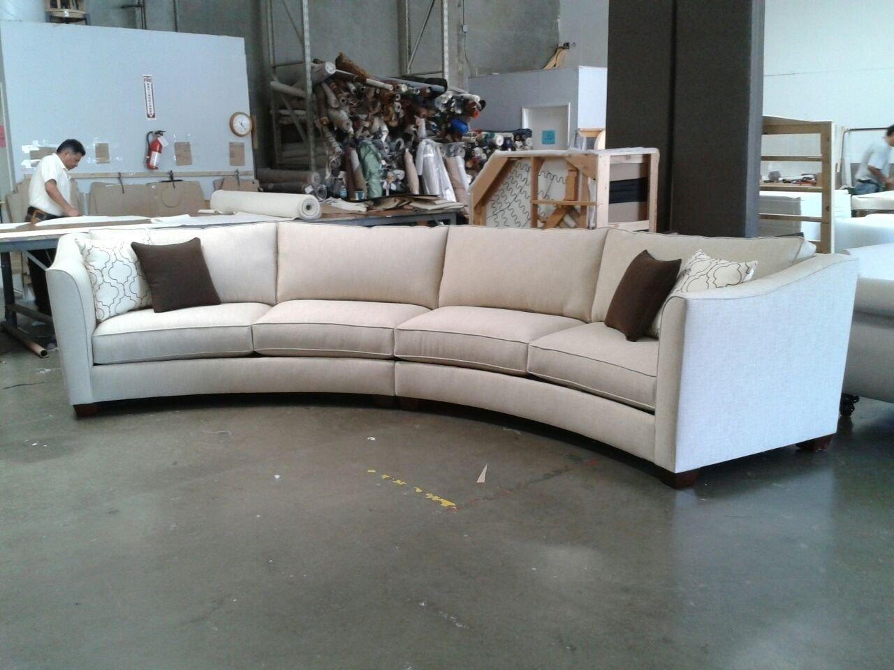 Curved Sectional Sofa: Glamour For Interior — Home Design Pertaining To Circular Sectionals (Image 6 of 15)