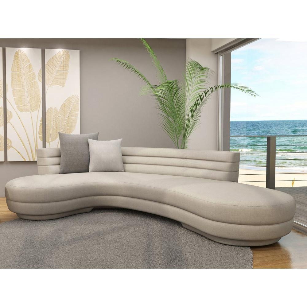 Curved Sectional Sofa: Glamour For Interior — Home Design Regarding Round Sectional Sofa Bed (View 11 of 20)