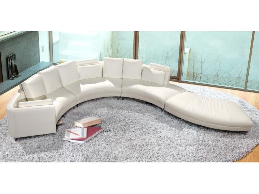 Curved Sectional Sofa: Glamour For Interior — Home Design Regarding Round Sectional Sofa Bed (View 7 of 20)