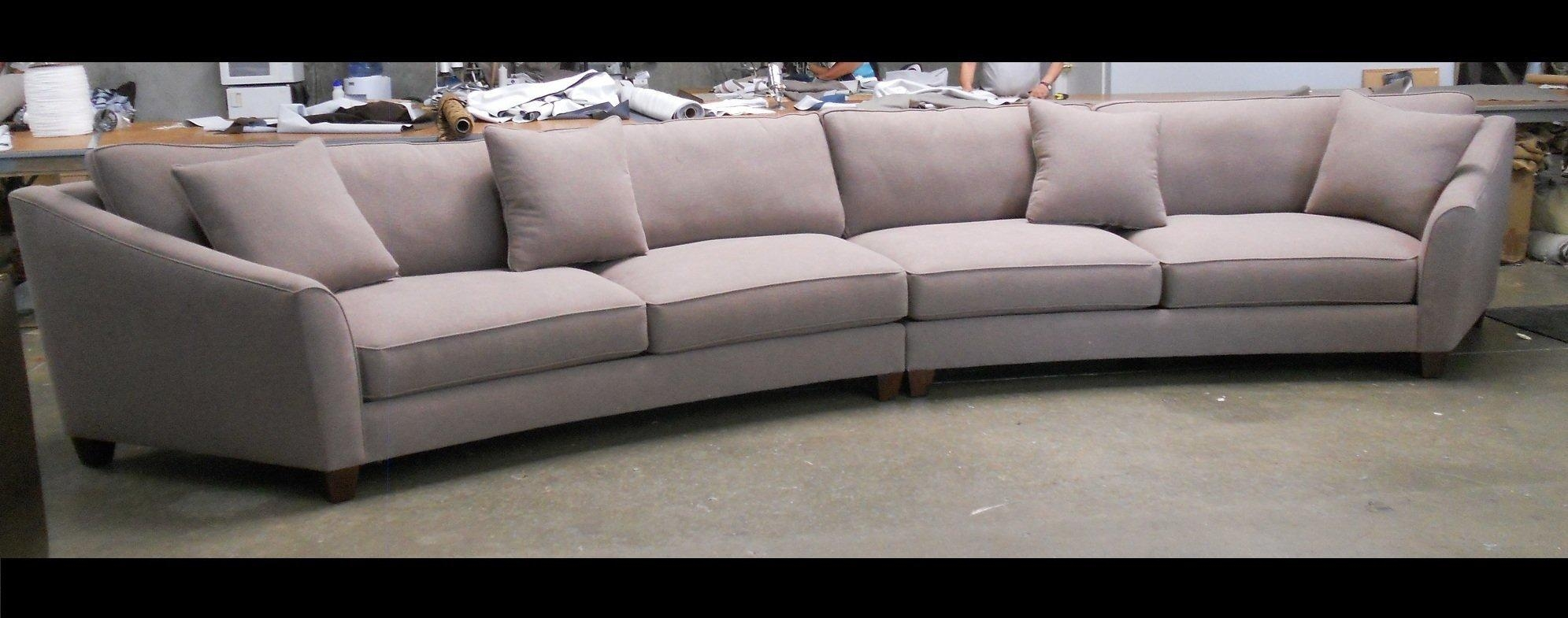 Curved Sectional Sofa Set – Rich Comfortable Upholstered Fabric With Regard To Large Comfortable Sectional Sofas (Image 3 of 20)