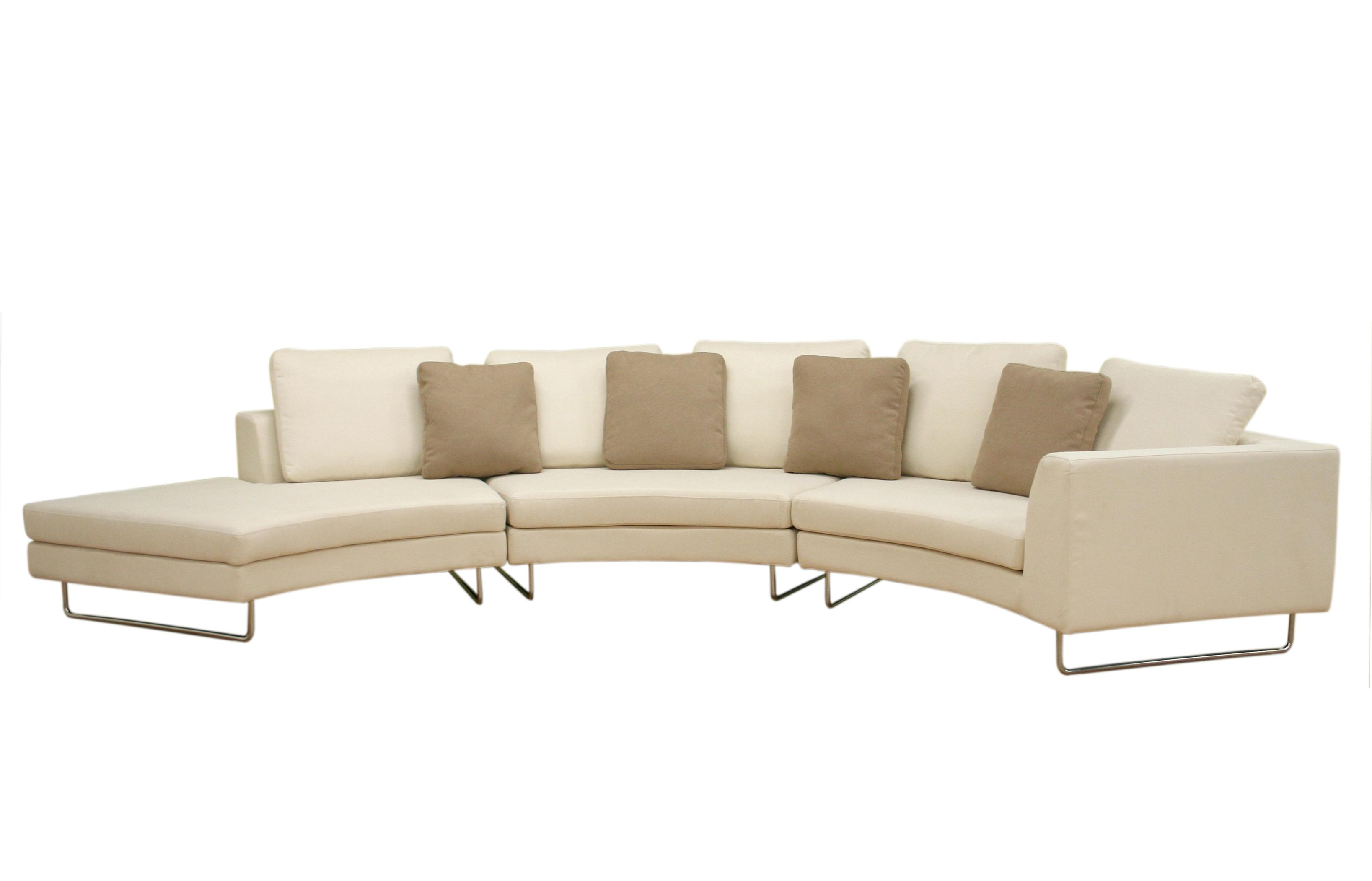 Curved Sectional Sofa Sofas North Carolina With Recliner Designs In Small Curved Sectional Sofas (Image 4 of 20)