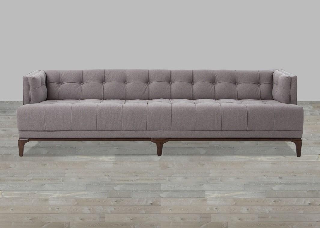 Cushion Almond Button Tufted Sofa For Silver Tufted Sofas (Image 6 of 20)