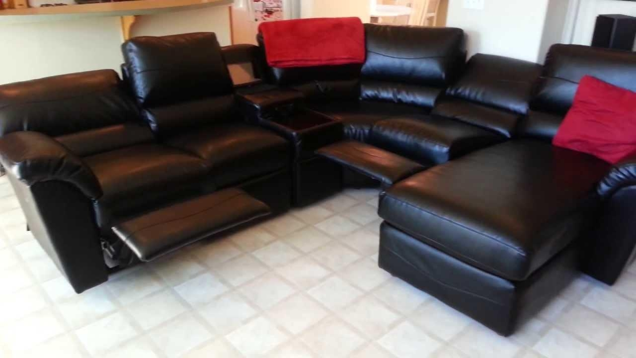 Custom La Z Boy Reese Sectional – Youtube With Regard To Custom Leather Sectional (Image 7 of 15)