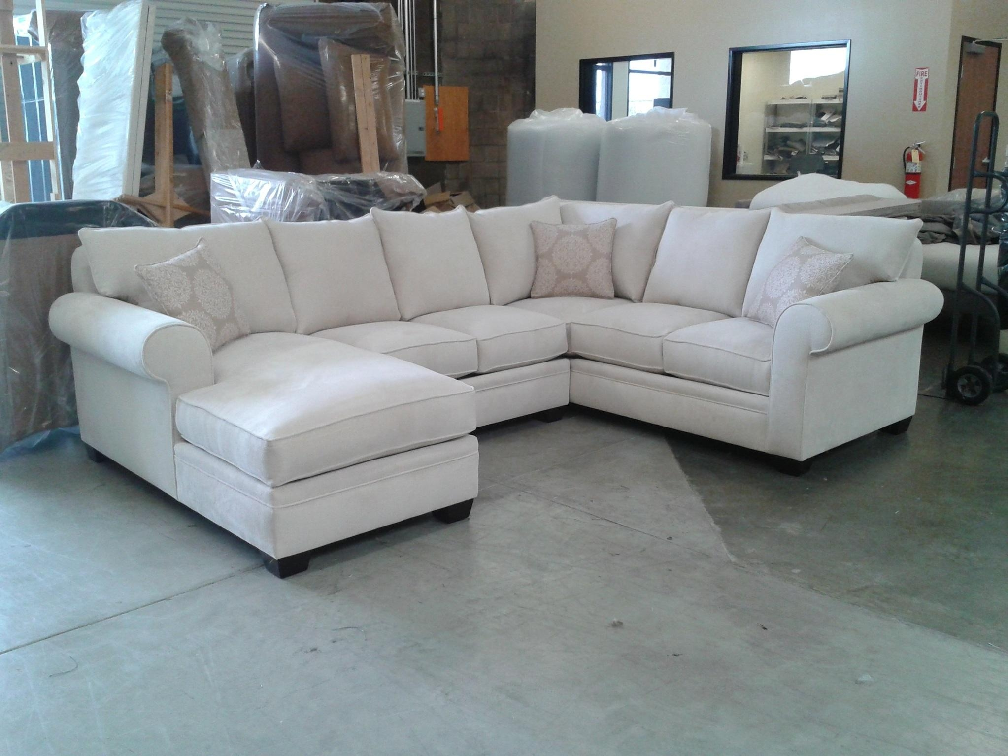 Custom Sectional Sofa | Chenille Sectional | U Shaped Sectional 8069 Intended For Down Sectional Sofa (Image 1 of 15)