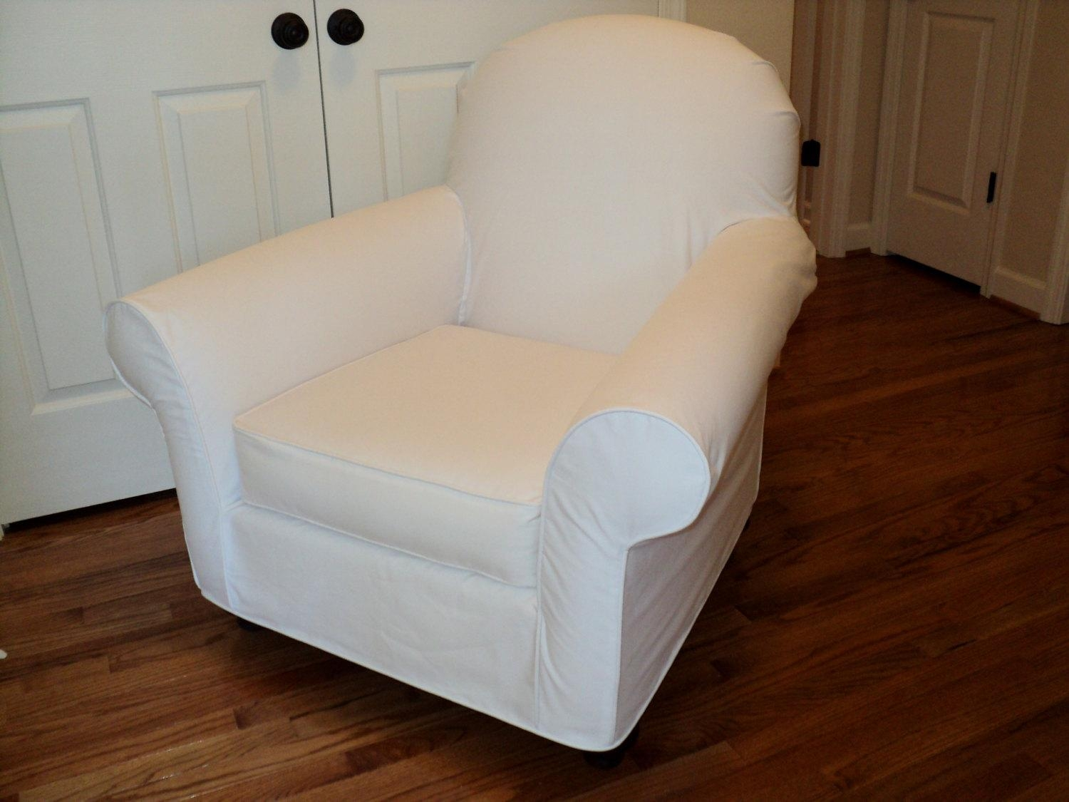 Custom Slipcover For Your Pb Dream Rocker With Wooden Pertaining To Pottery Barn Chair Slipcovers (Image 2 of 20)