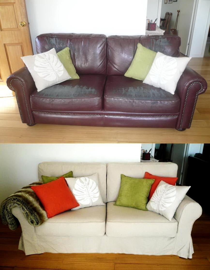 Custom Slipcovers And Couch Cover For Any Sofa Online In Slipcover For Leather Sofas (View 3 of 20)