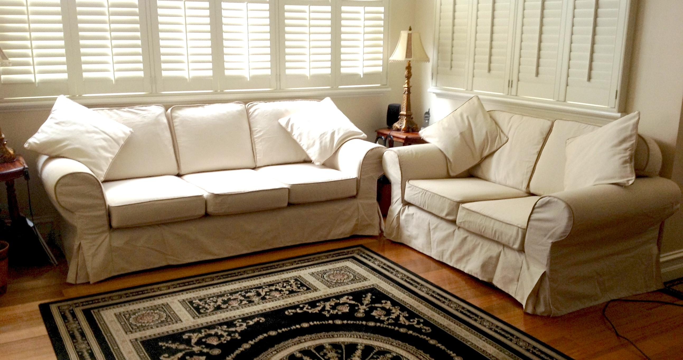Custom Slipcovers And Couch Cover For Any Sofa Regarding 3 Piece Image