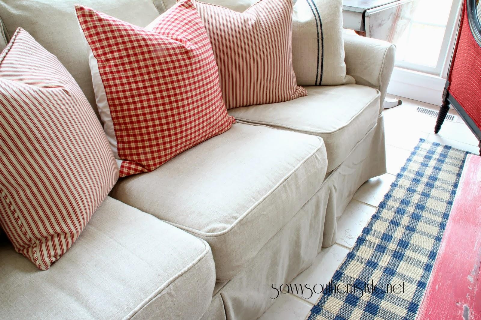 Custom Slipcovers And Couch Cover For Any Sofa Online Regarding Canvas Slipcover Sofas (Image 6 of 20)
