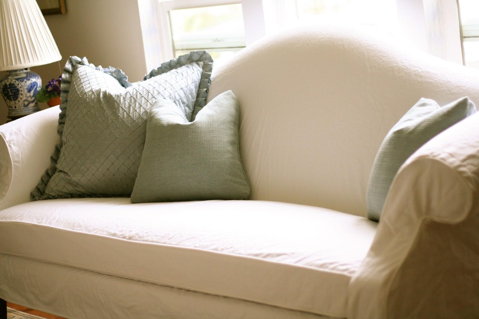 Custom Slipcoversshelley: White Camel Back Couch Intended For Camel Back Couch Slipcovers (Image 8 of 20)