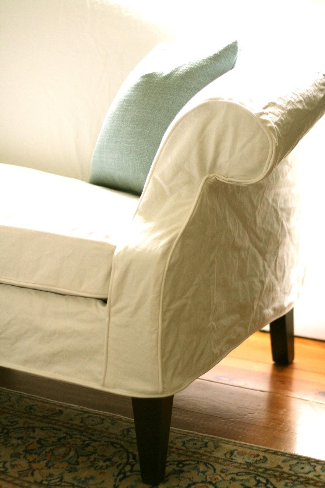 Custom Slipcoversshelley: White Camel Back Couch Throughout Camel Back Couch Slipcovers (Image 9 of 20)