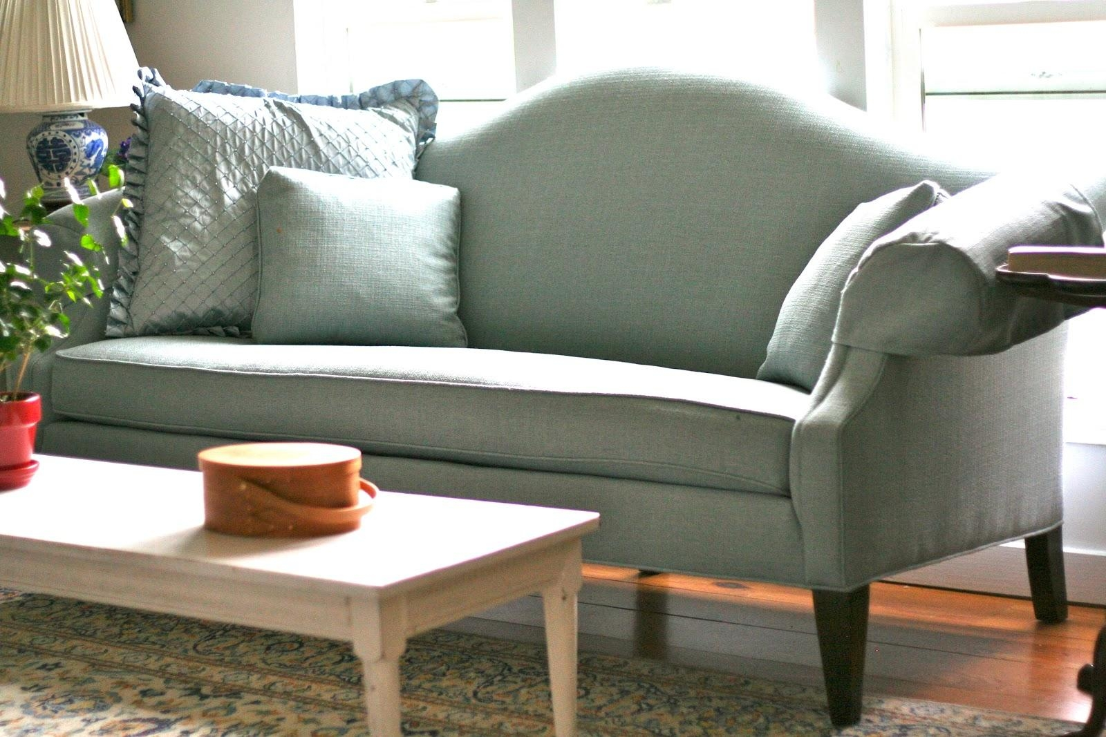 Custom Slipcoversshelley: White Camel Back Couch Within Camel Back Sofa  Slipcovers (Image 12 Of