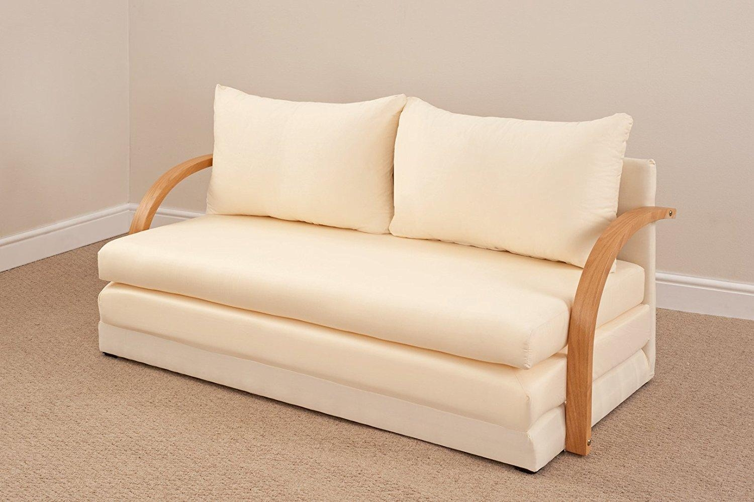 Cute Natural Beige Fold Out Double Foam Sofa Bed Most Comfortable With Most Comfortable Sofabed (Image 8 of 22)