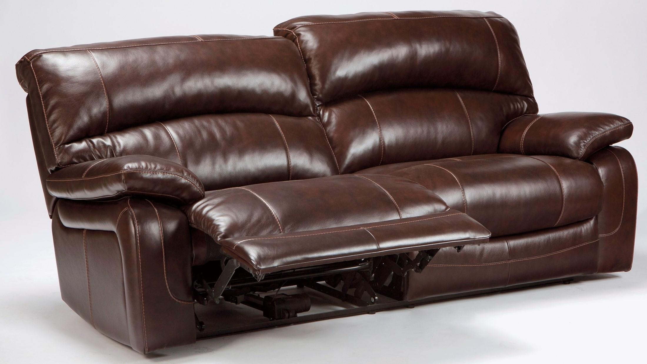 Damacio Dark Brown 2 Seat Power Reclining Sofa From Ashley For 2 Seat Recliner Sofas (Image 5 of 20)