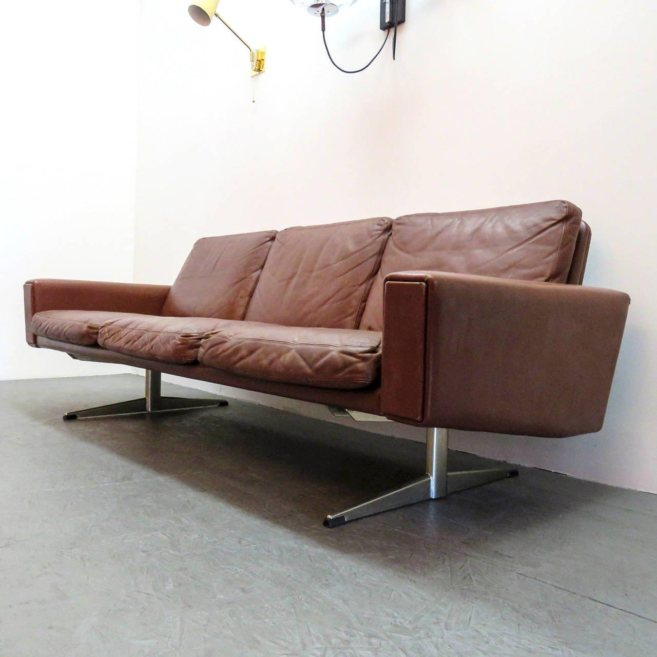 Danish Leather Sofa, 1960 For Sale At 1Stdibs Throughout Danish Leather Sofas (Image 9 of 20)