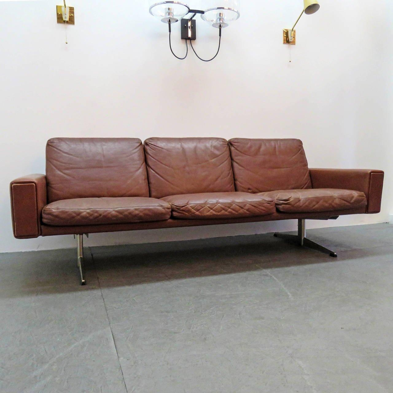 Danish Leather Sofa, 1960 For Sale At 1Stdibs Within Danish Leather Sofas (Image 10 of 20)
