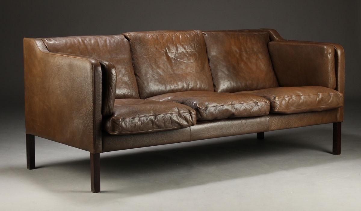 Danish Leather Sofag Thams For Vejen Polstermøbelfabrik, 1960S With Regard To Danish Leather Sofas (Image 11 of 20)