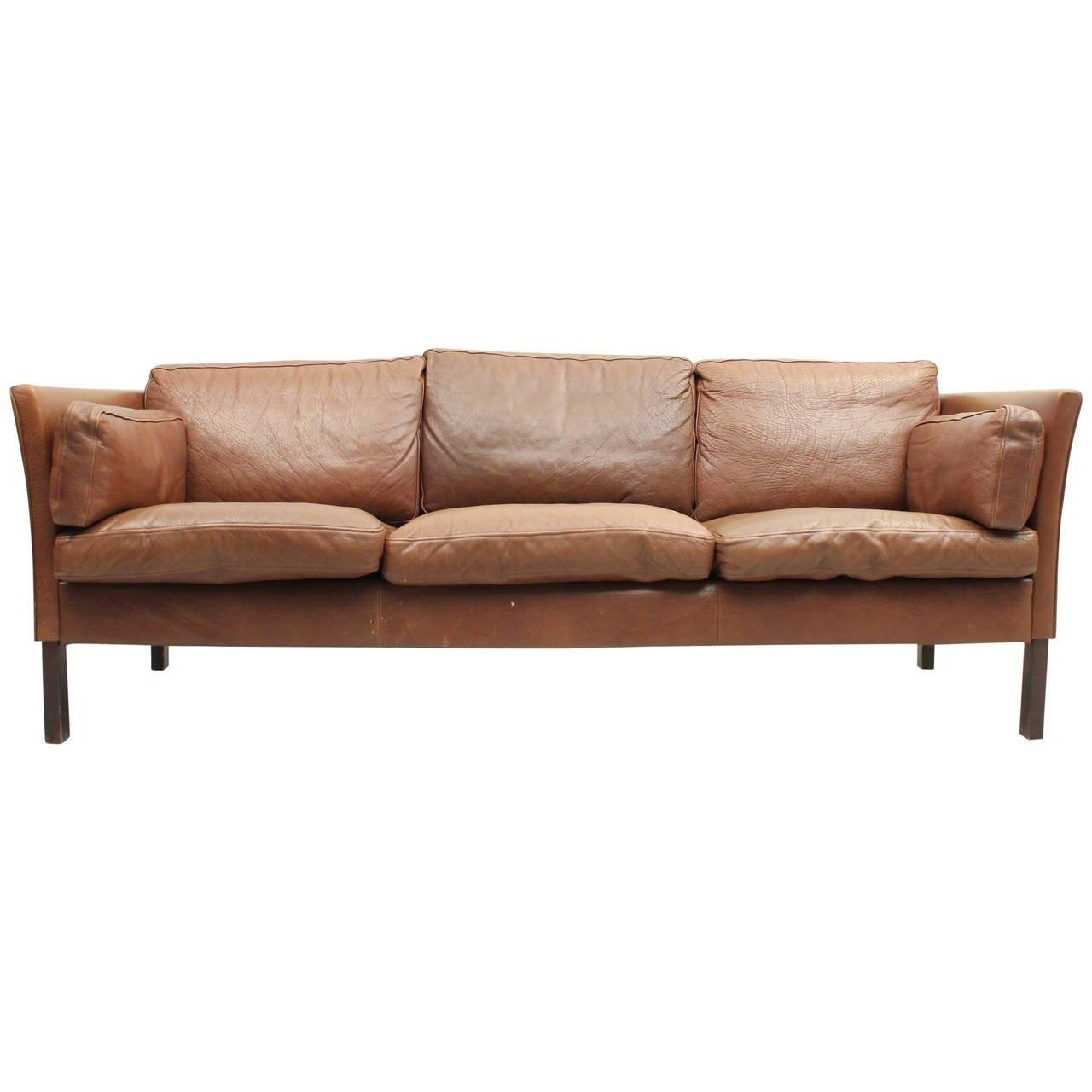 Danish Mid Century Modern Leather Sofa At 1Stdibs Intended For Danish Leather Sofas (Image 13 of 20)