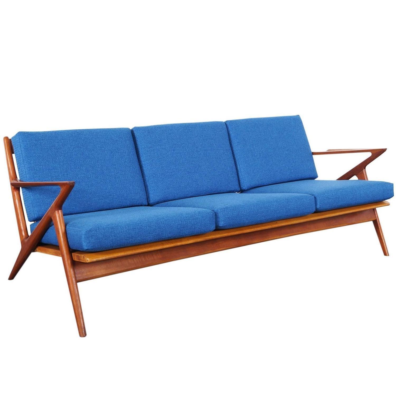 "Danish Modern Teak ""z"" Sofapoul Jensen At 1Stdibs In Danish Modern Sofas (View 6 of 20)"