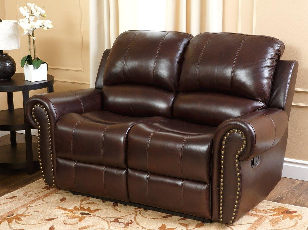Darby Home Co Barnsdale Reclining Italian Leather Sofa And With Regard To Italian Leather Sofas (View 9 of 20)