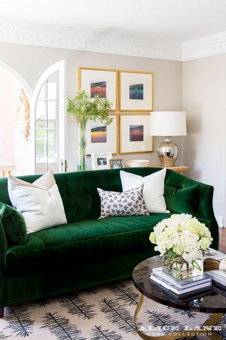 20 best ideas emerald green sofas sofa ideas for Living room ideas 2 couches