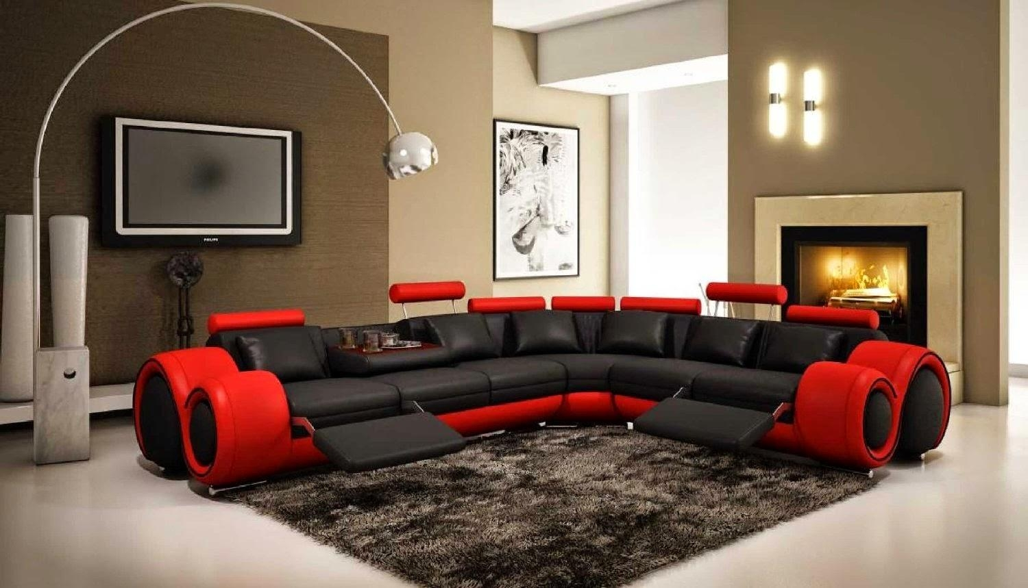 Dark Red Couches Regarding Black And Red Sofas (Image 8 of 20)