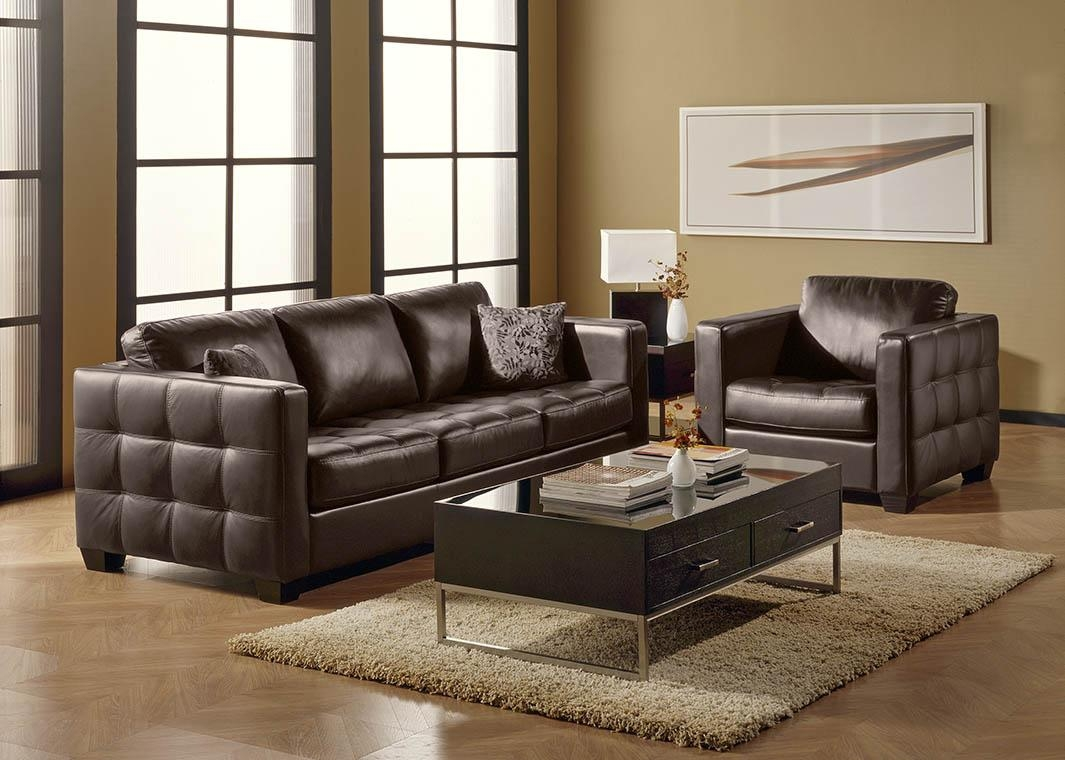 Dark Red Top Grain Leather Sofa Pertaining To Dark Red Leather Sofas (Image 9 of 20)