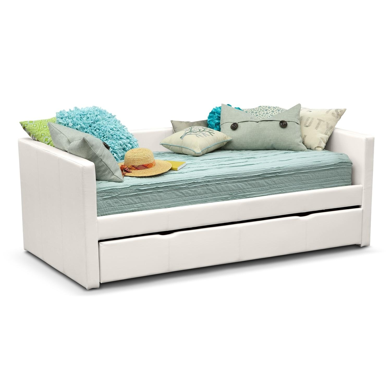 Daybeds & Trundle Beds | Bedroom Furniture | American Signature Pertaining To Sofas Daybed With Trundle (Image 3 of 20)