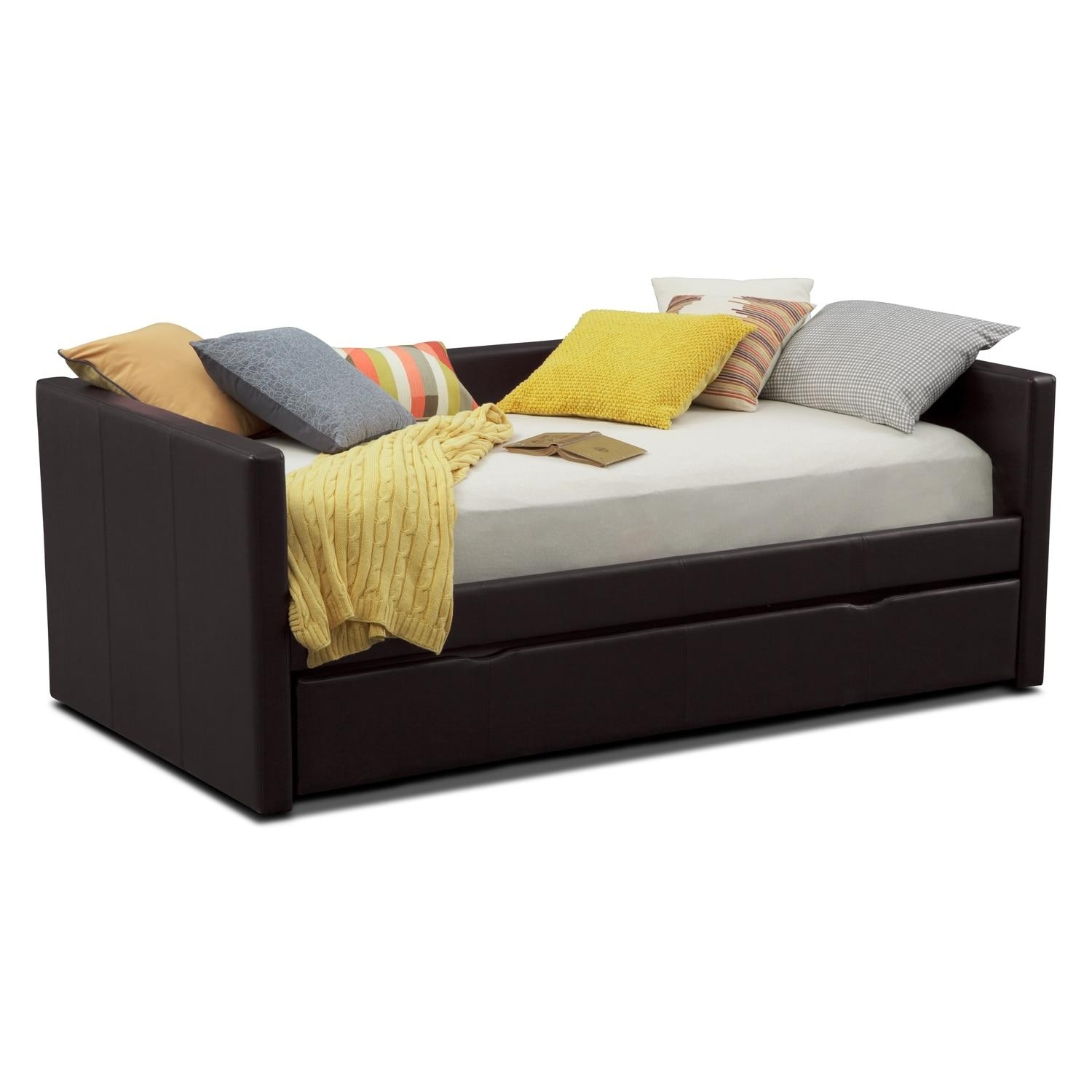 Daybeds & Trundle Beds | Bedroom Furniture | Value City Furniture Intended For Sofas With Trundle (Image 3 of 20)