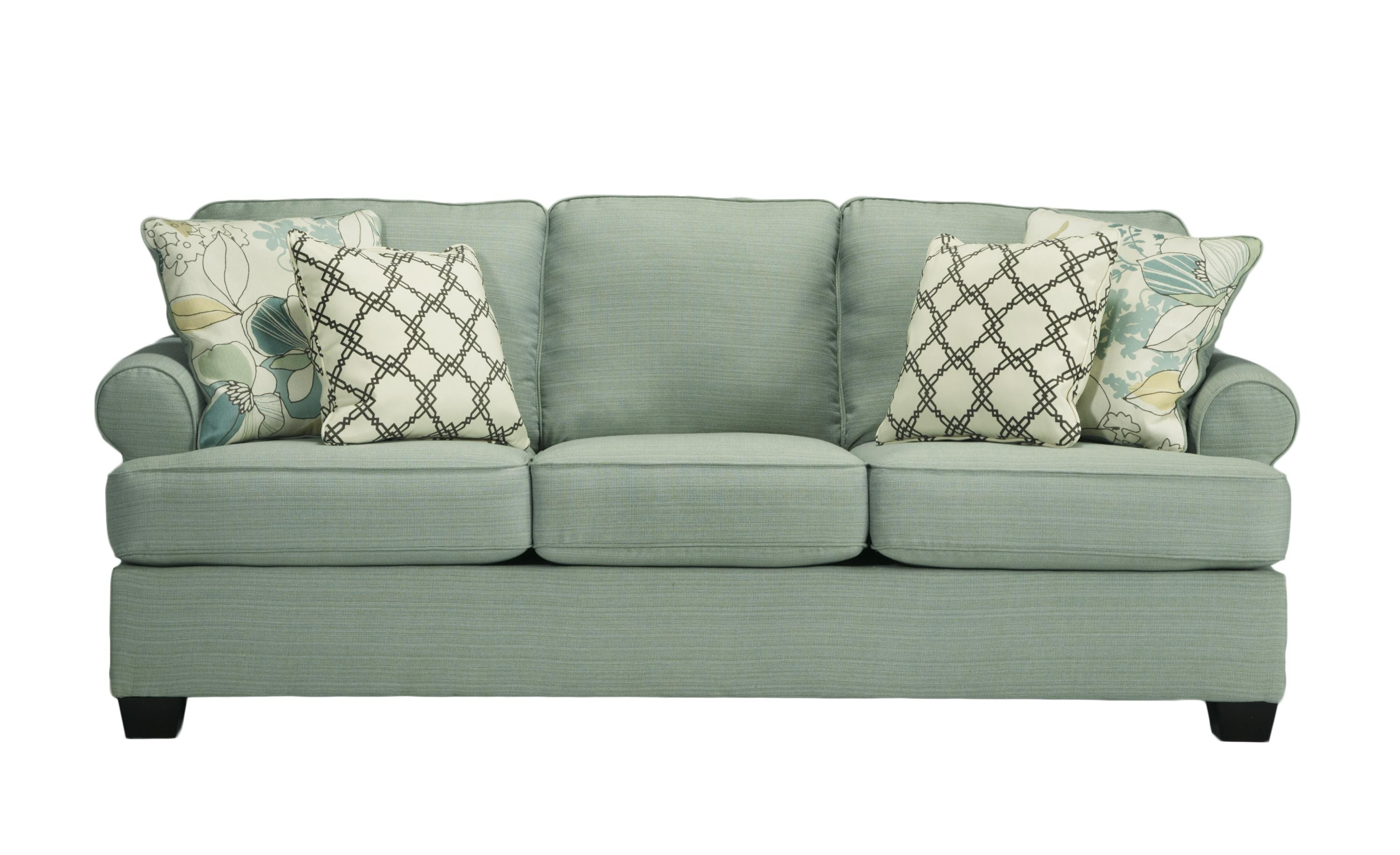 Daystar Contemporary Seafoam Fabric Sofa | Living Rooms | The For Seafoam Green Couches (Image 5 of 20)