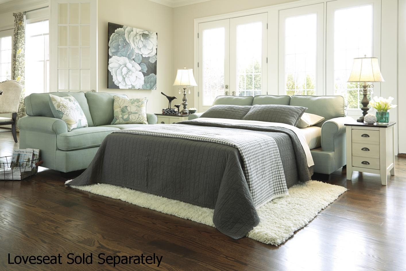Daystar Seafoam Green Fabric Sofa Bed – Steal A Sofa Furniture With Regard To Seafoam Green Couches (Image 8 of 20)
