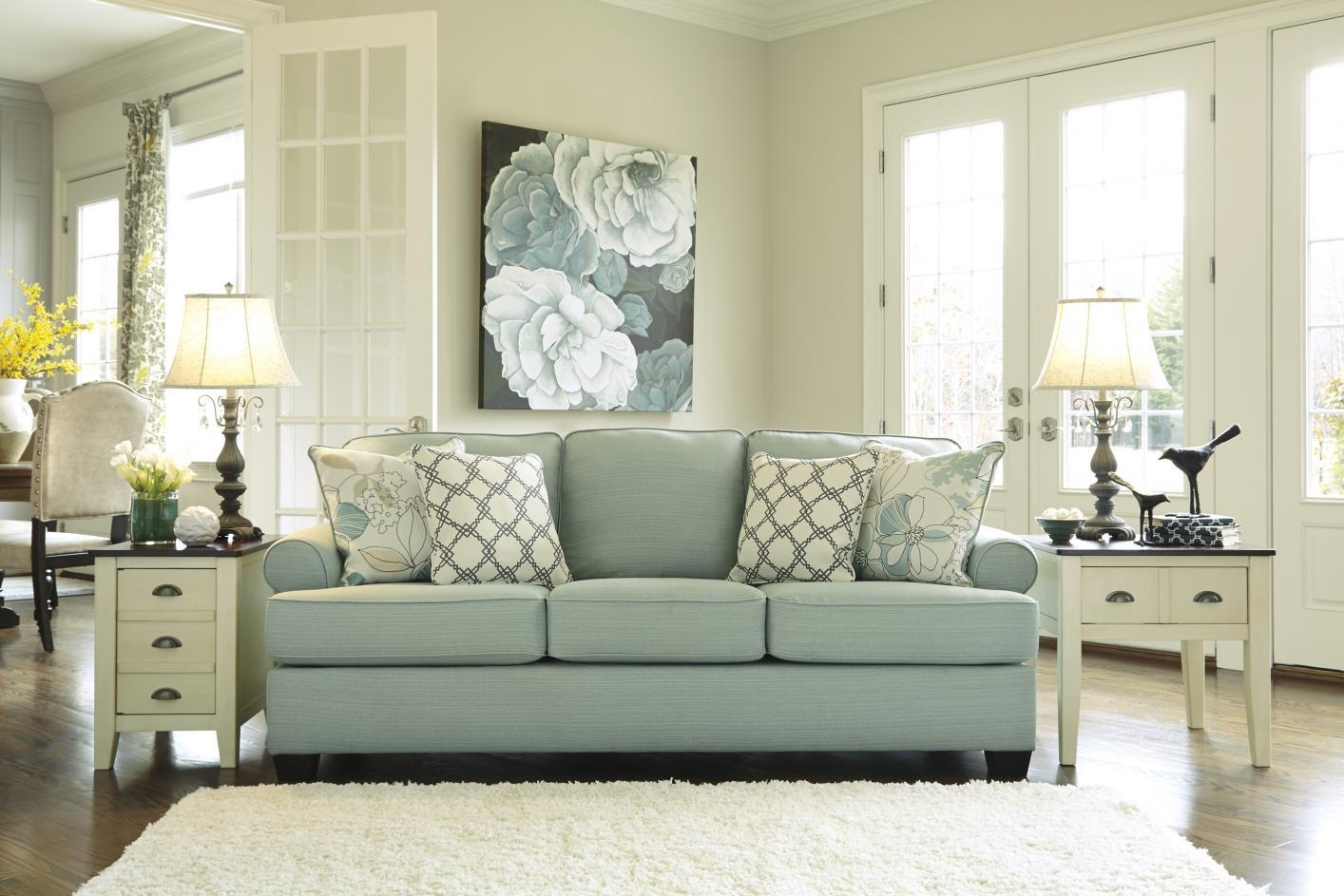 Daystar Seafoam Green Fabric Sofa – Steal A Sofa Furniture Outlet Intended For Seafoam Green Couches (Image 7 of 20)