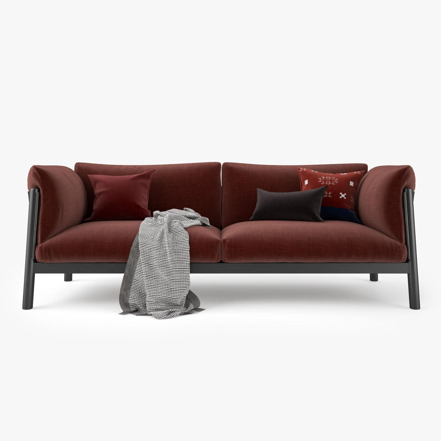 De Padova Yak Two Seater Sofa 3D Model Max Obj Fbx Mtl With Regard To Two Seater Sofas (Image 7 of 20)