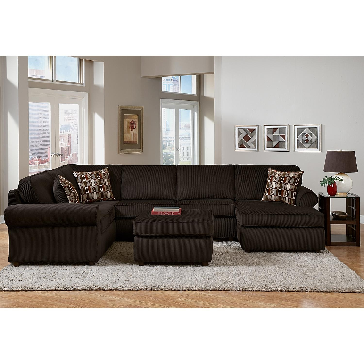 Decor: Artificial Classic Corduroy Sectional Sofa For Unique In Colored Sectionals (Image 8 of 15)