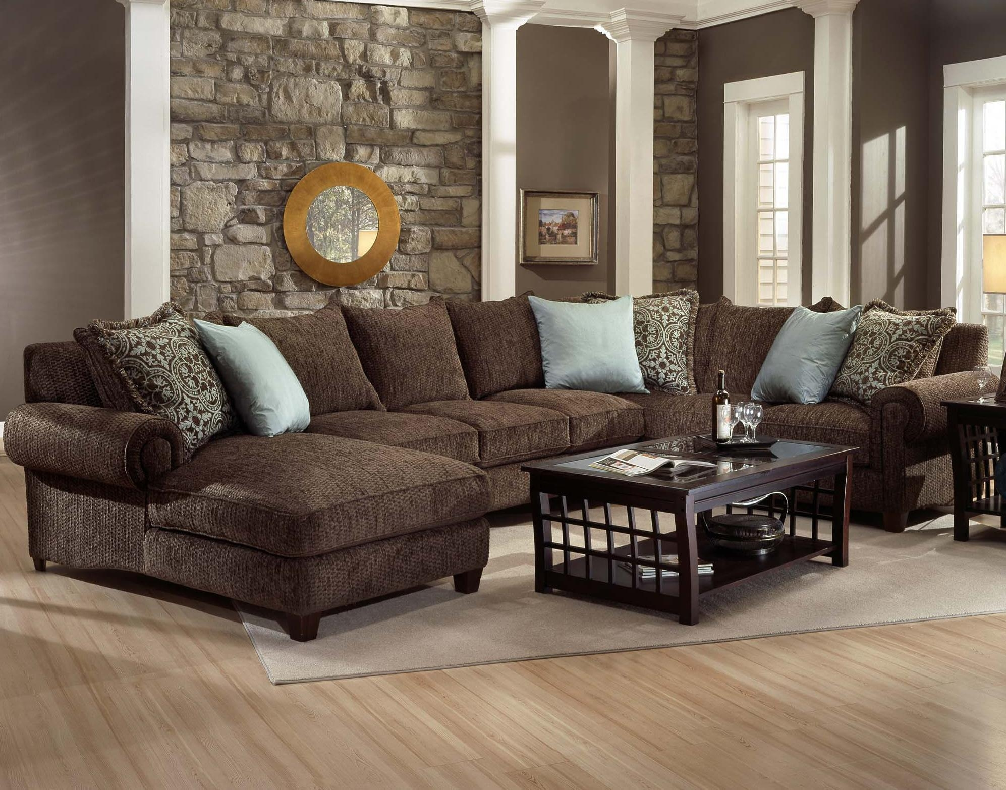 Decor: Artificial Classic Corduroy Sectional Sofa For Unique With Deep Sectionals (View 9 of 15)