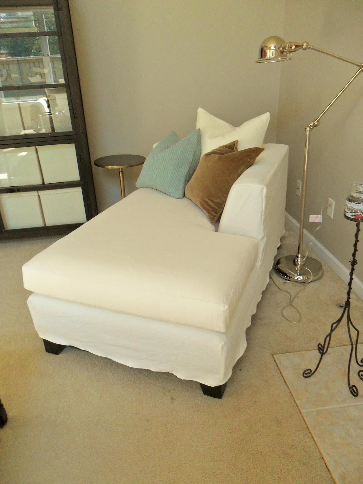 Decor: Comfortable Lounge Chair Design With Chaise Lounge In Slipcovered Chaises (Image 12 of 20)