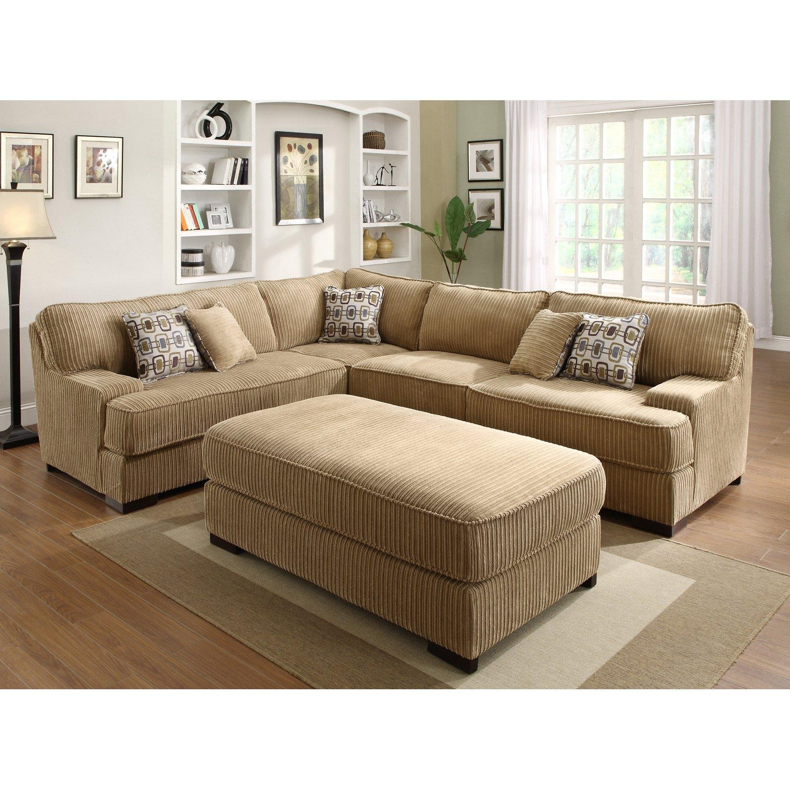 Decor: Deep Sectional Couch And Corduroy Sectional Sofa Throughout Leather And Chenille Sectional (Image 5 of 20)