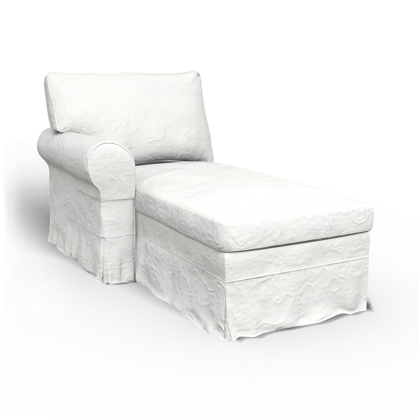 Decor: Exciting Interior Lounge Chair Design With White Chaise Regarding Slipcovered Chaises (View 13 of 20)