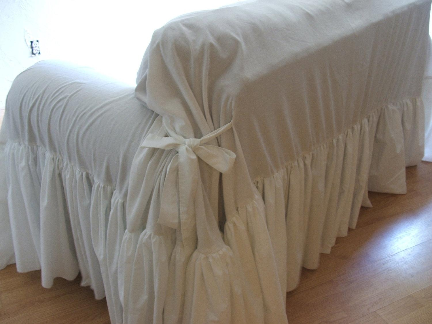 Decor: Lovely Shabby Chic Slipcovers For Enchanting Furniture Regarding Shabby Chic Sofas Covers (Image 8 of 20)