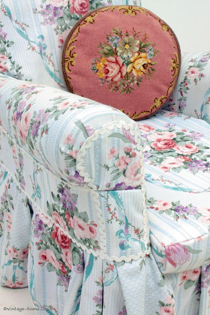 Decor: Lovely Shabby Chic Slipcovers For Enchanting Furniture With Regard To Chintz Sofa Covers (Image 9 of 20)