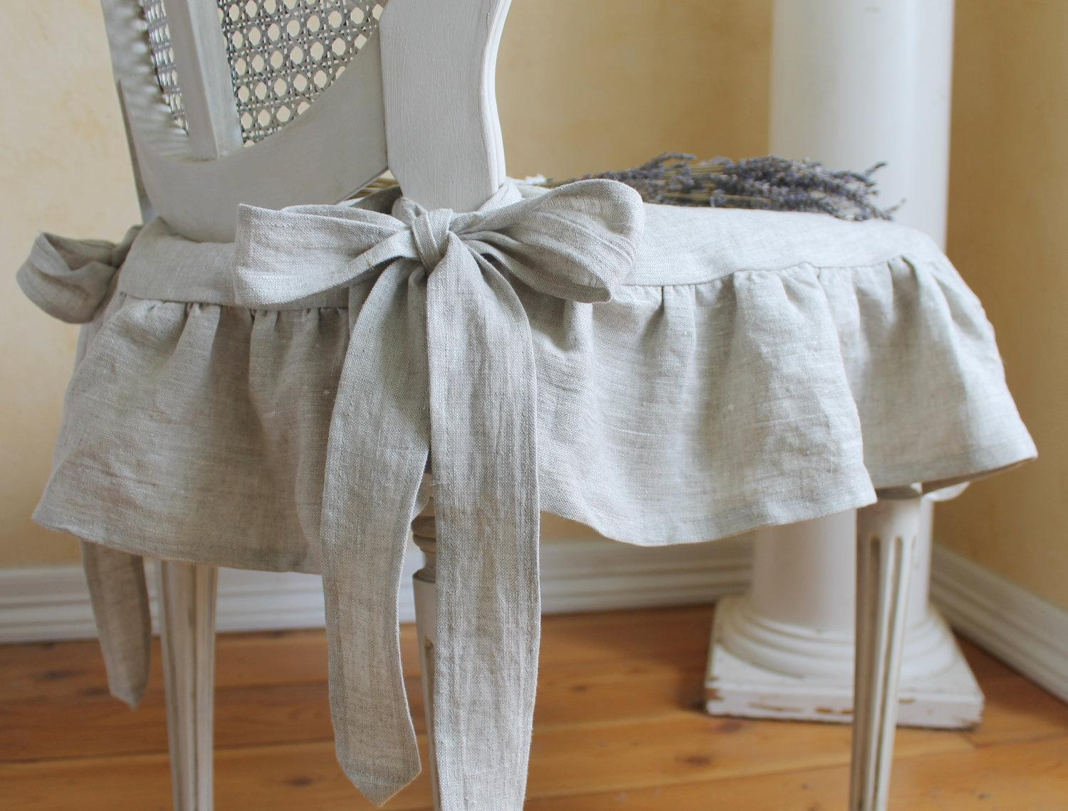 Decor: Lovely Shabby Chic Slipcovers For Enchanting Furniture Within Shabby Slipcovers (View 4 of 20)