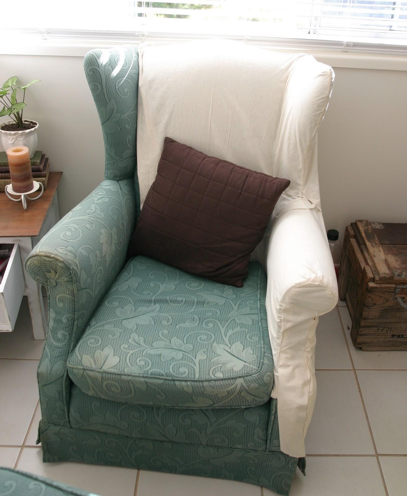 Decor: Pretty Design Of Wingback Chair Covers For Chic Furniture Intended For Sofa And Chair Covers (View 12 of 20)