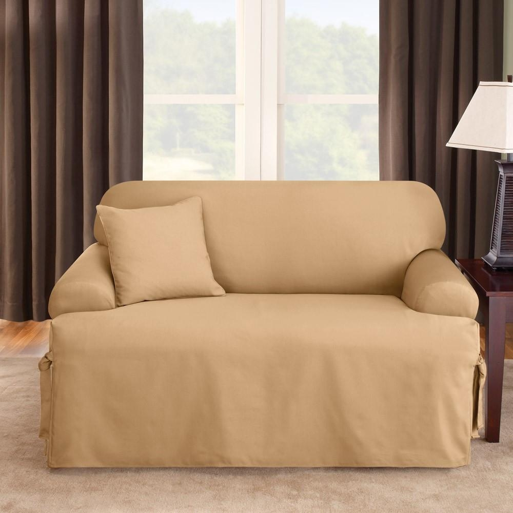 Decor: Stylish T Cushion Sofa Slipcover For Living Room Decoration For T Cushion Slipcovers For Large Sofas (View 6 of 20)