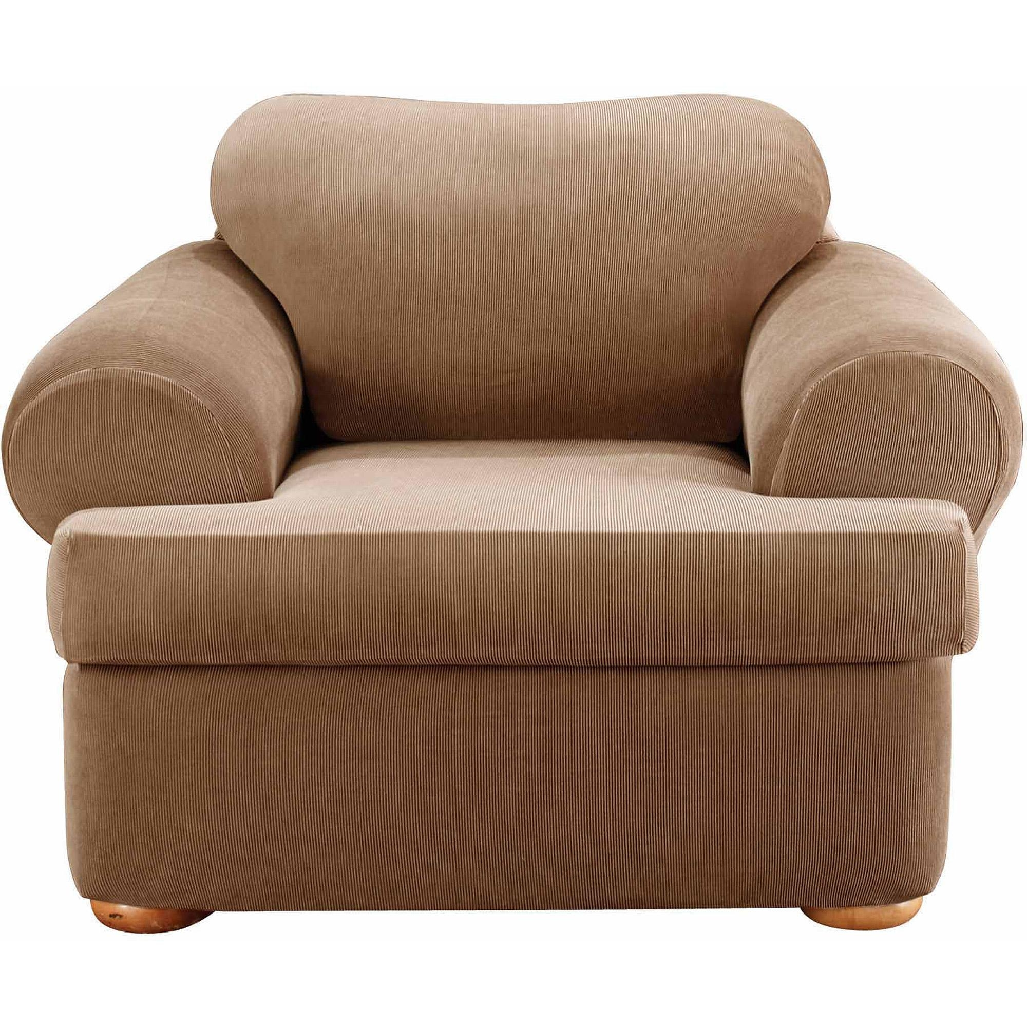 Decor: Stylish T Cushion Sofa Slipcover For Living Room Decoration Inside Loveseat Slipcovers T Cushion (View 5 of 20)