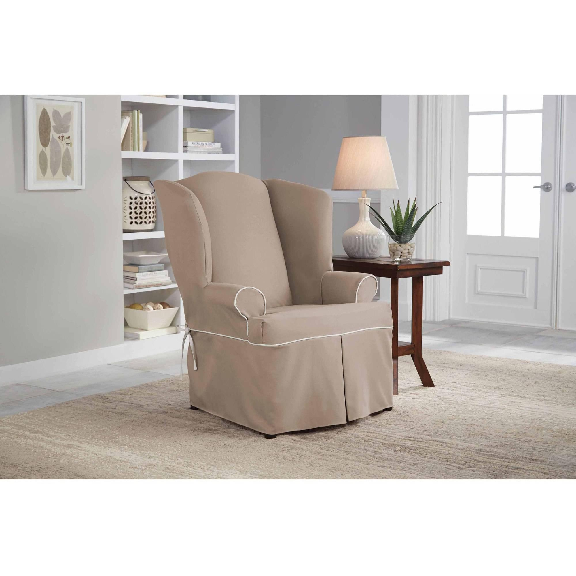 Decor: Stylish T Cushion Sofa Slipcover For Living Room Decoration With Regard To Loveseat Slipcovers T Cushion (View 17 of 20)